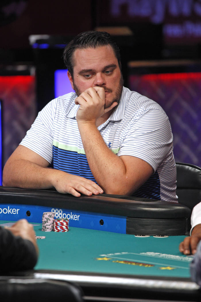Frederik Brink en el séptimo día de la World Series of Poker en el Río Convention Center en Las Vegas, miércoles, 11 de julio de 2018. (Rachel Aston / Las Vegas Review-Journal) @rookie__rae
