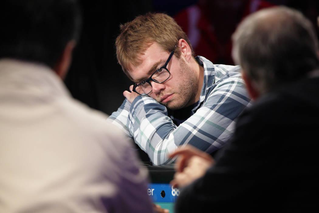 Michael Dyer en el séptimo día de la World Series of Poker en el Río Convention Center en Las Vegas, miércoles 11 de julio de 2018. (Rachel Aston / Las Vegas Review-Journal) @rookie__rae