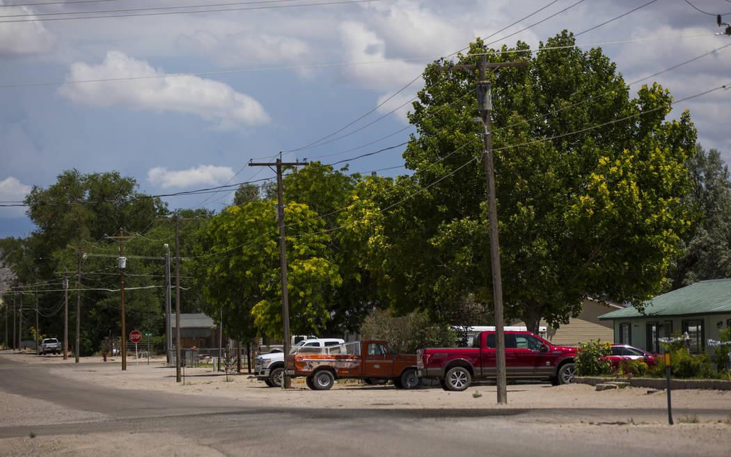 Una vista a lo largo de 5th Street cerca de la ubicación del mortal atentado de 2016 en Panaca el jueves 12 de julio de 2018. Chase Stevens Las Vegas Review-Journal @csstevensphoto