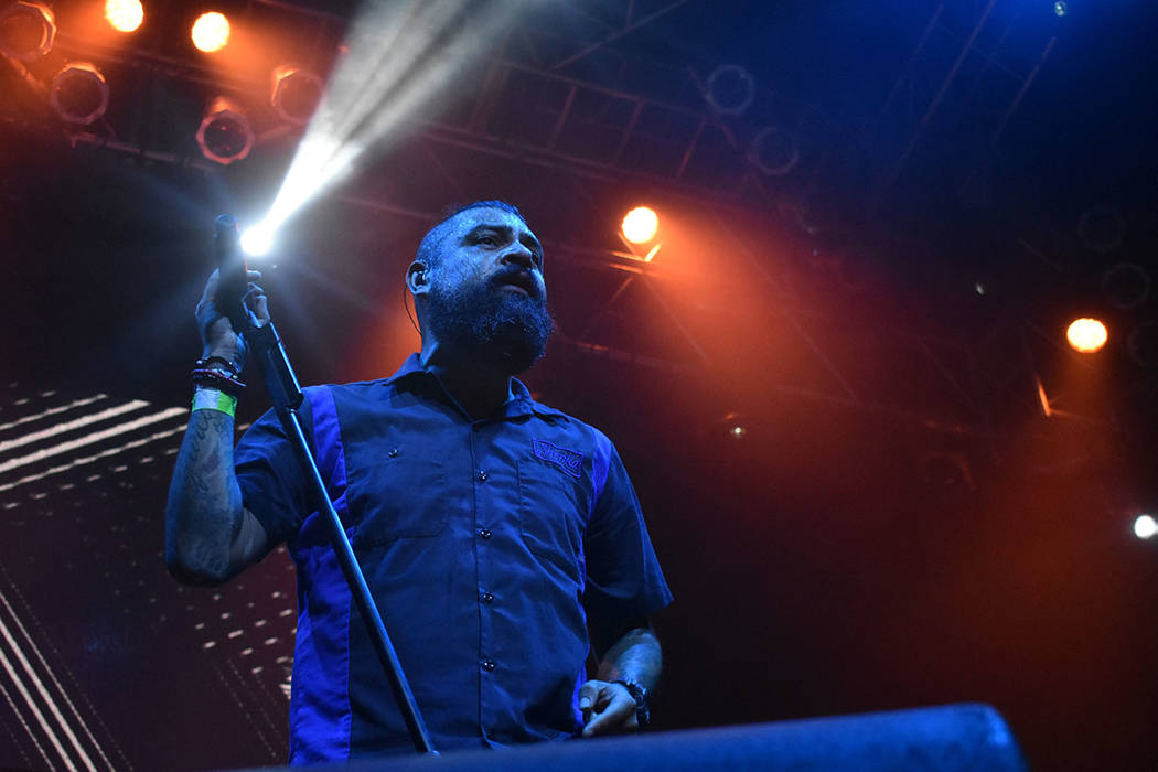 'La carencia' y 'La dosis perfecta' fueron las canciones más esperadas en el concierto de Panteón Rococó en Las Vegas. Miércoles 11 de julio de 2018 en House of Blues. Foto Anthony Ave ...