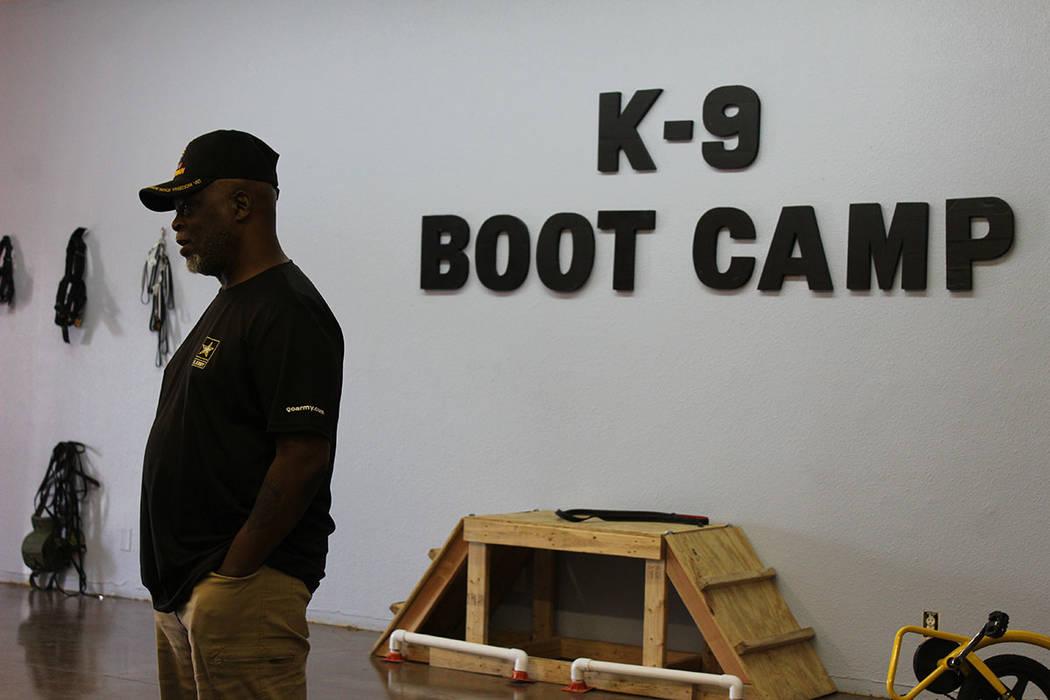 Chase Núñez, sirvió como militar por 29 años. Sábado 14 de julio del 2018. K-9 Bootcamp. Foto Cristian De la Rosa / El Tiempo - Contribuidor.