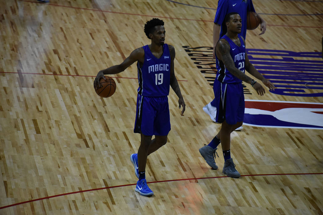 Braian Angola-Rodes anotó 11 puntos para Orlando Magic en el juego ante Oklahoma City Thunder. Viernes 13 de julio de 2018 en Thomas & Mack Center. Foto Anthony Avellaneda / El Tiempo.