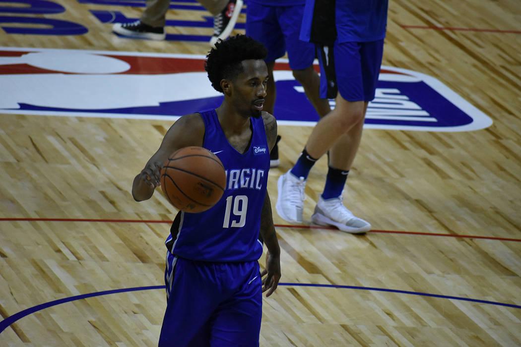 Braian Angola-Rodes anotó 11 puntos para Orlando Magic en el juego ante Oklahoma City Thunder. Viernes 13 de julio de 2018 en Thomas & Mack Center. Foto Anthony Avellaneda / El Tiempo.