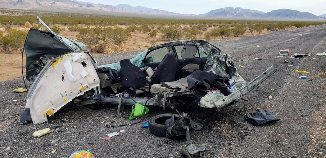 La Patrulla de Caminos de Nevada está investigando un accidente fatal que involucró cuatro vehículos en la carretera estadounidense 93 al norte de Las Vegas, cerca de Coyote Springs, el miérco ...