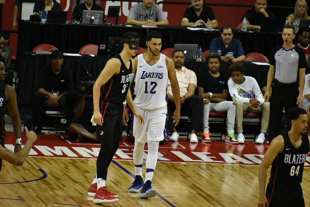 Por varios lapsos del partido, Portland Trail Blazers llegó a tener ventaja de hasta 20 puntos sobre Los Ángeles Lakers en la final de la NBA Summer League. Martes 17 de julio de 2018 en Thomas ...