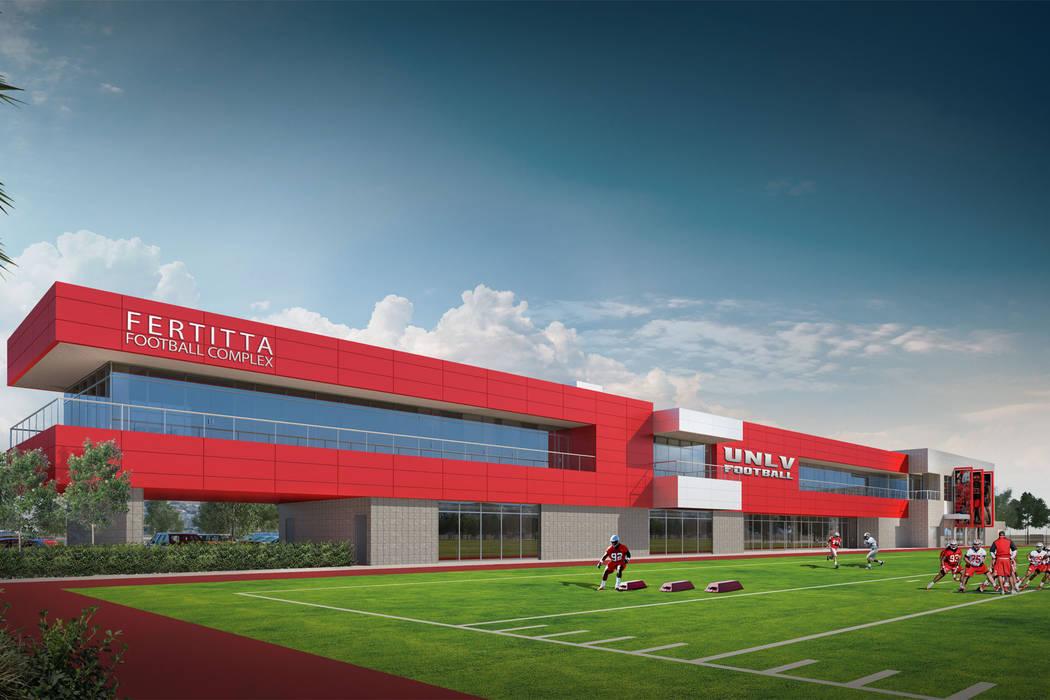 Esta es una representación de folleto del Fertitta Football Complex. (UNLV).