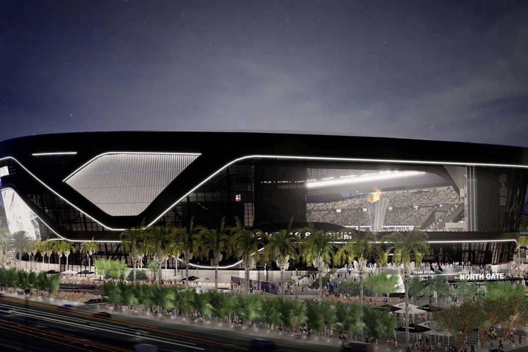 Representación del nuevo estadio Raiders que se está construyendo en Las Vegas. (Autoridad del Estadio de Las Vegas)