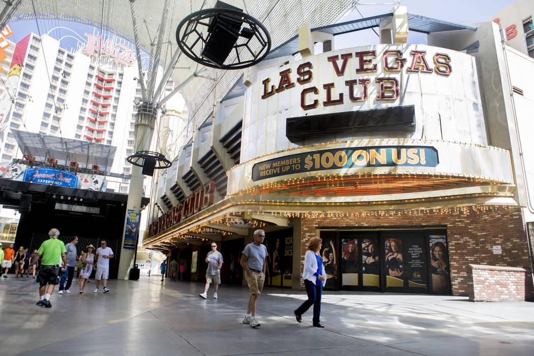 El recientemente cerrado Las Vegas Club está siendo considerado como un casino temporal por Gaming Control Board para preservar la licencia de juego, en el centro de Las Vegas, el martes 6 de jun ...