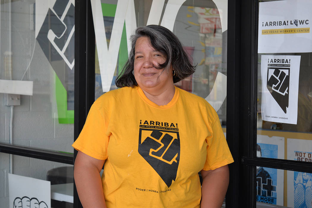 Yolanda Floriano, originaria de Morelia, Michoacán, Mexico, dijo que la educación es un recurso que nadie puede robar. Miércoles 18 de julio en la sede de la organización. Foto Frank Alejandre ...