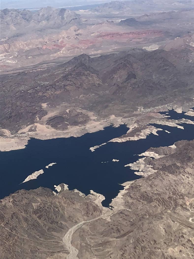 Una vista del Lago Mad desde las alturas, fotografía tomada en marzo de 2018. Foto Valdemar González / El Tiempo - Contribuidor.
