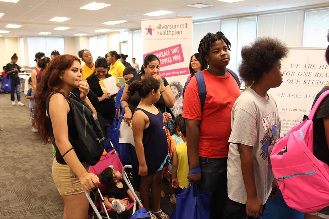 La feria fue planeada para alumnos hispanos y afroamericanos. Sábado 21 de julio de 2018. Estación Central de LVMPD. Foto Cristian De la Rosa / El Tiempo - Contribuidor.