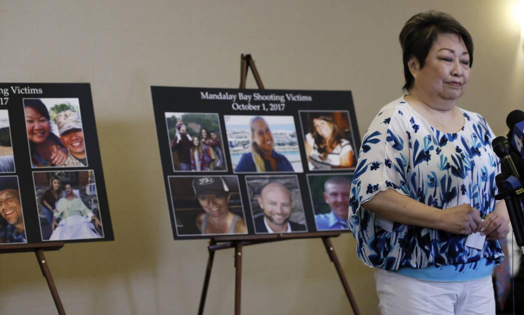 Joyce Shipp, 72, de Las Vegas, que perdió a su hija, Laura Shipp, por disparos en el tiroteo de Las Vegas del 1 de octubre de 2017, habla sobre esa noche y la decisión del MGM, durante una cuent ...