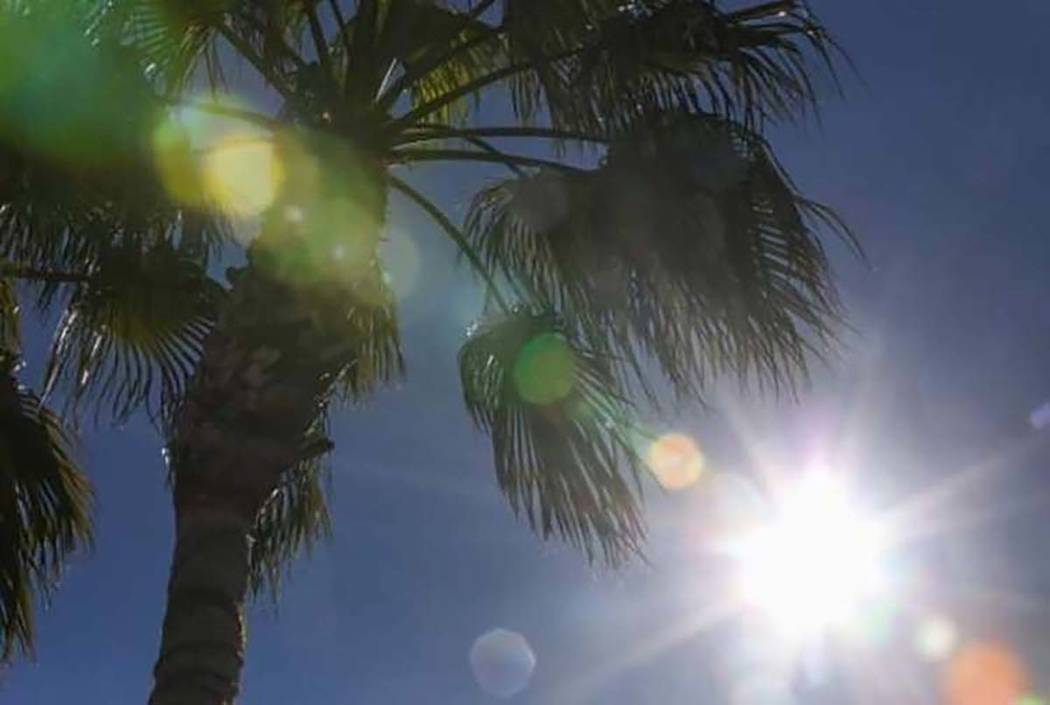 El Servicio Meteorológico Nacional emitió una alerta de calor excesivo de martes a jueves en el Valle de Las Vegas. (Las Vegas Review-Journal)