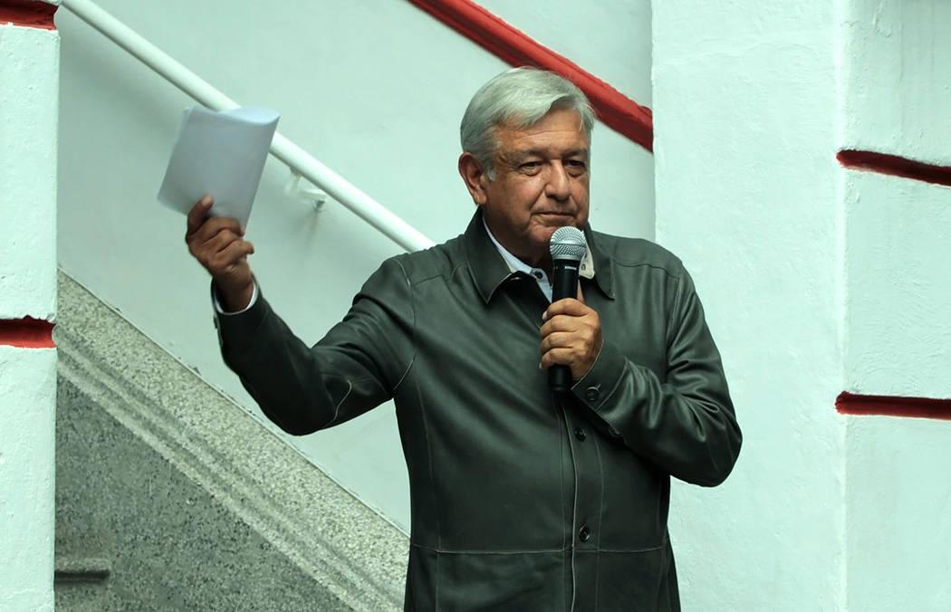 Archivo. México, 14 Jul 2018 (Notimex-Bernardo Moncada).- Andrés Manuel López Obrador, candidato ganador de la elección presidencial, sostuvo que cumplirá lo que prometió en campaña, por lo ...