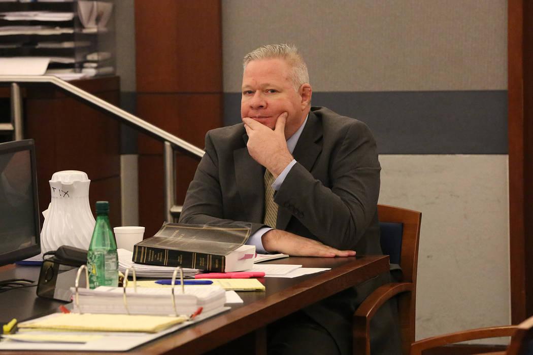 Jarom Boyes se sienta durante su juicio por asesinato en el Centro de Justicia Regional en Las Vegas el miércoles 7 de marzo de 2018. Michael Quine Las Vegas Review-Journal @ Vegas88s