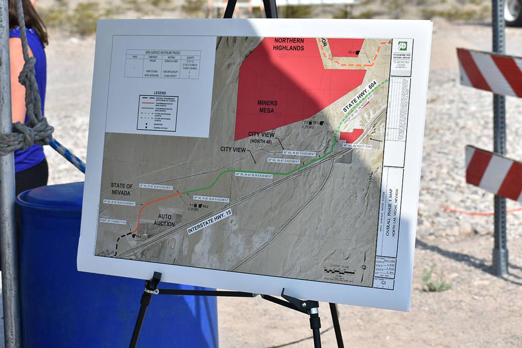 Este proyecto proporcionará un abastecimiento de hasta 3,000 acres en la zona norte del valle. Martes 31 de julio en North Las Vegas. Foto Anthony Avellaneda / El Tiempo.