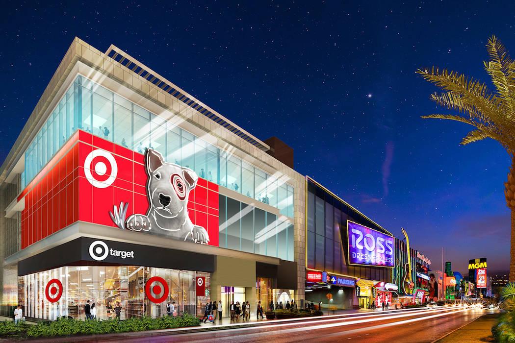 Una representación de una tienda Target configurada para abrir en Las Vegas Strip en 2020. (Target)