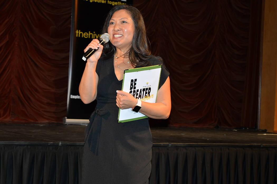Jennifer Varrato, directora de desarrollo e incorporación de empleados del CCSD, dio la bienvenida a los profesores. Miércoles 1 de agosto de 2018, en el Texas Station. Foto El Tiempo.