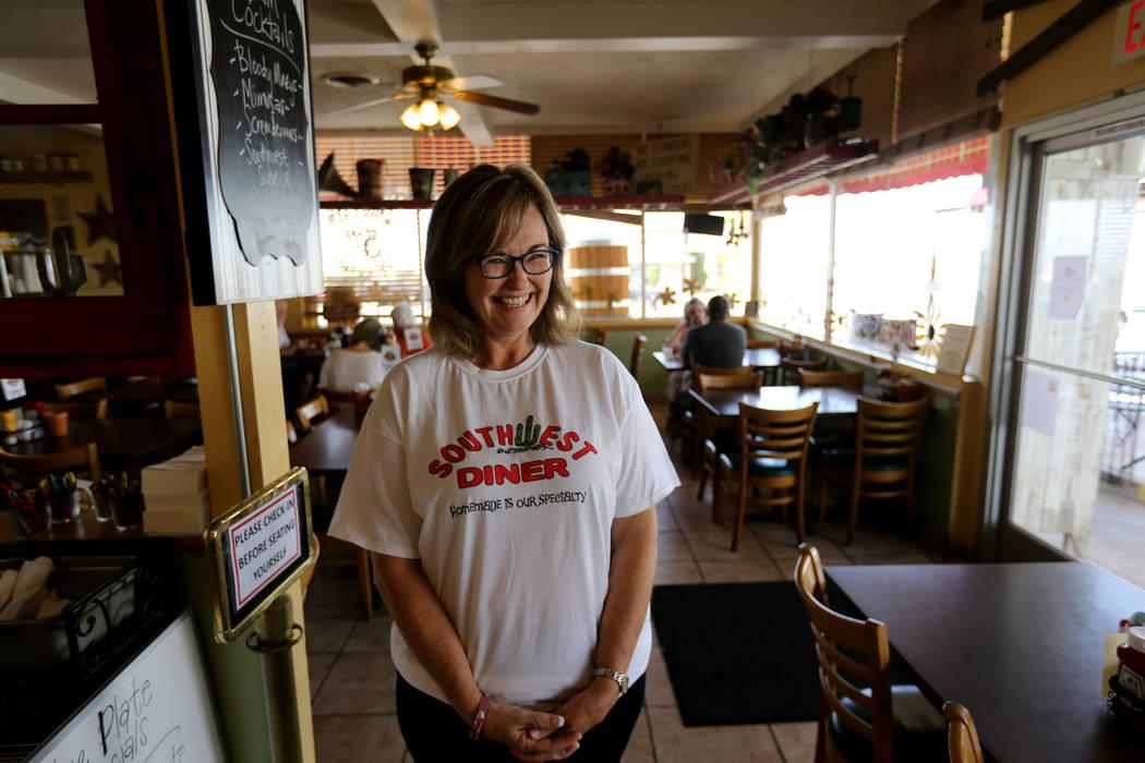Cindy Ford, propietaria de Southwest Diner en la esquina de Nevada Way y 5th Street en Boulder City el miércoles 1 de agosto de 2018. K.M. Cannon Las Vegas Review-Journal @KMCannonPhoto