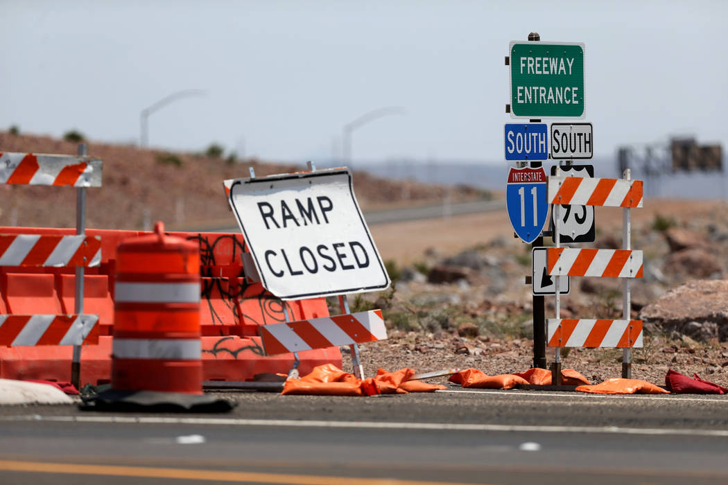 Una entrada a la Interestatal 11 desde la autopista 95 de los Estados Unidos en Boulder City el miércoles 1 de agosto de 2018. K.M. Cannon Las Vegas Review-Journal @KMCannonPhoto