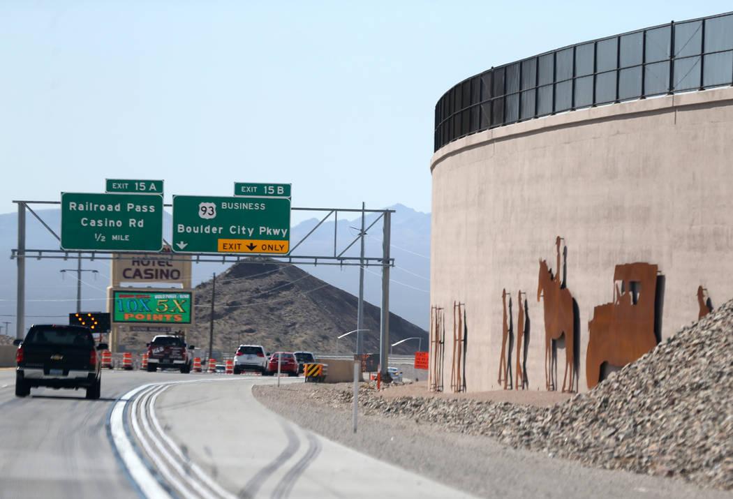 Arte en la Interestatal 11 cerca de la autopista 95 de los Estados Unidos en Boulder City el miércoles 1 de agosto de 2018. K.M. Cannon Las Vegas Review-Journal @KMCannonPhoto