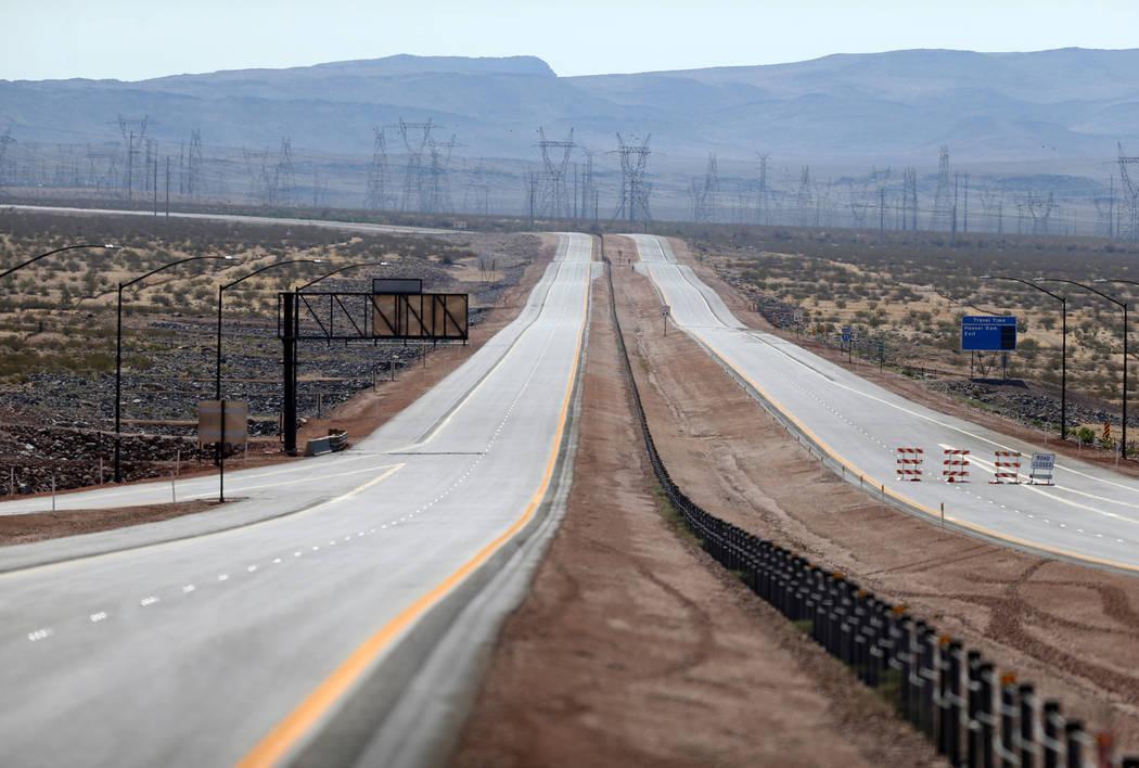 Interestatal 11 cerca de la autopista 95 de los Estados Unidos en Boulder City el viernes 3 de agosto de 2018. K.M. Cannon Las Vegas Review-Journal @KMCannonPhoto