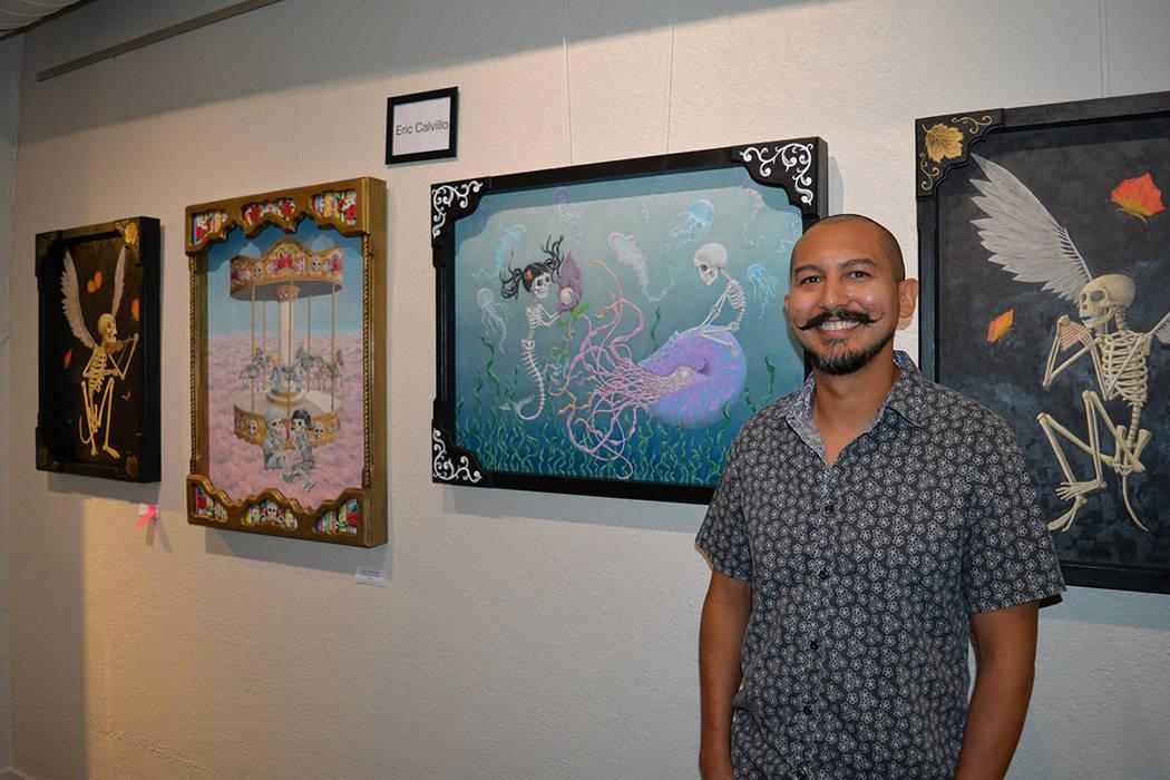 Eric Calvillo tuvo gran impacto por su trabajo, el cual fue reforzado por la exhibición de la película Coco, donde se aborda la celebración del Día de Muertos. Viernes 3 de agosto de 2018 en e ...
