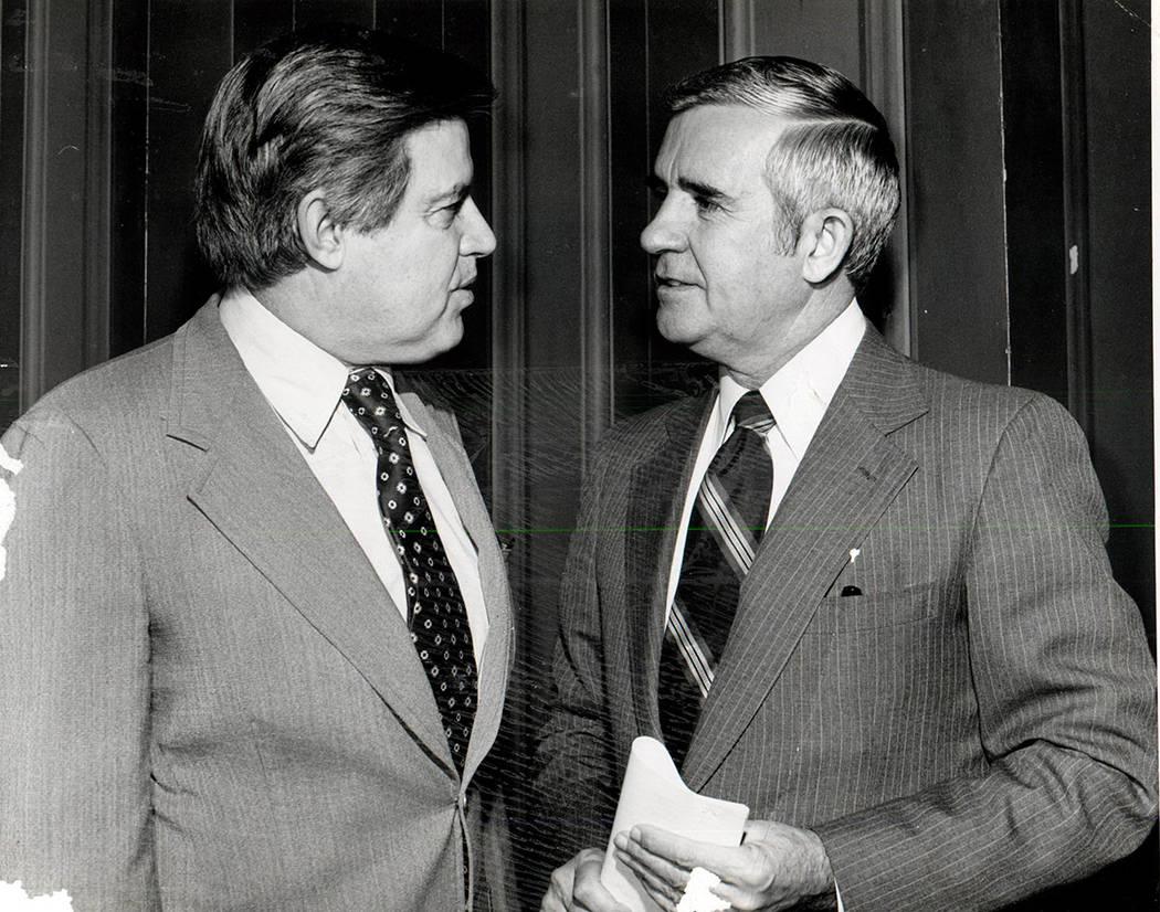 Paul Laxalt y el senador Frank Church Idaho (Foto de archivo / Las Vegas Review-Journal)