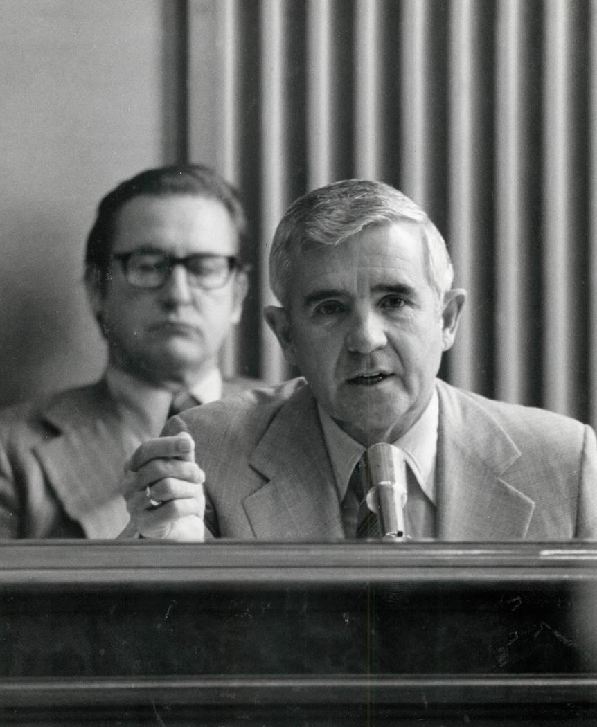 Paul Laxalt en 1980. (Foto de archivo / Las Vegas Review-Journal)