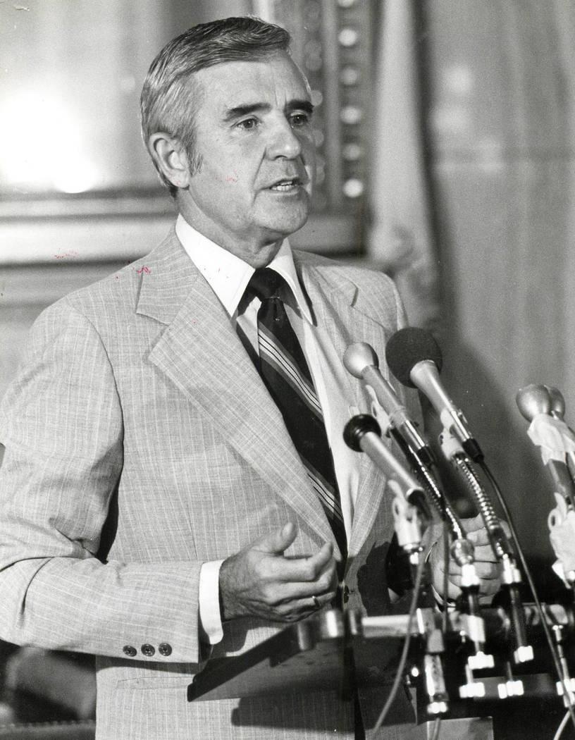 Paul Laxalt, 13 de enero de 1983 (foto de archivo / Las Vegas Review-Journal)