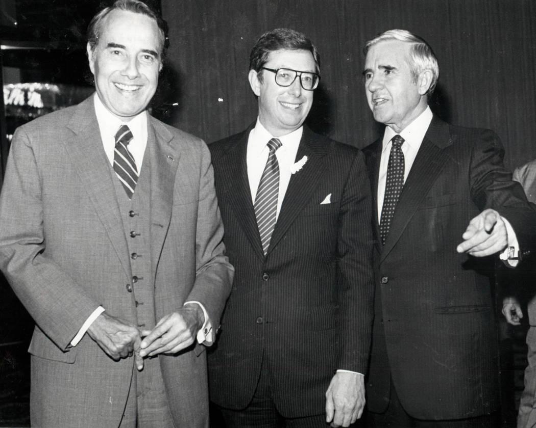 Bob Dole, Robert List y Paul Laxalt en 1982. (Foto de archivo Las Vegas Review-Journal)
