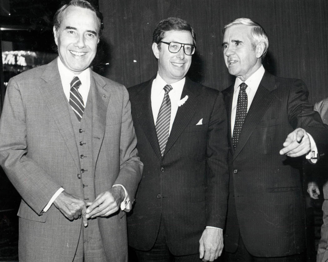 Bob Dole, Robert List y Paul Laxalt en 1982. (Foto de archivo Las Vegas Review-Journal)