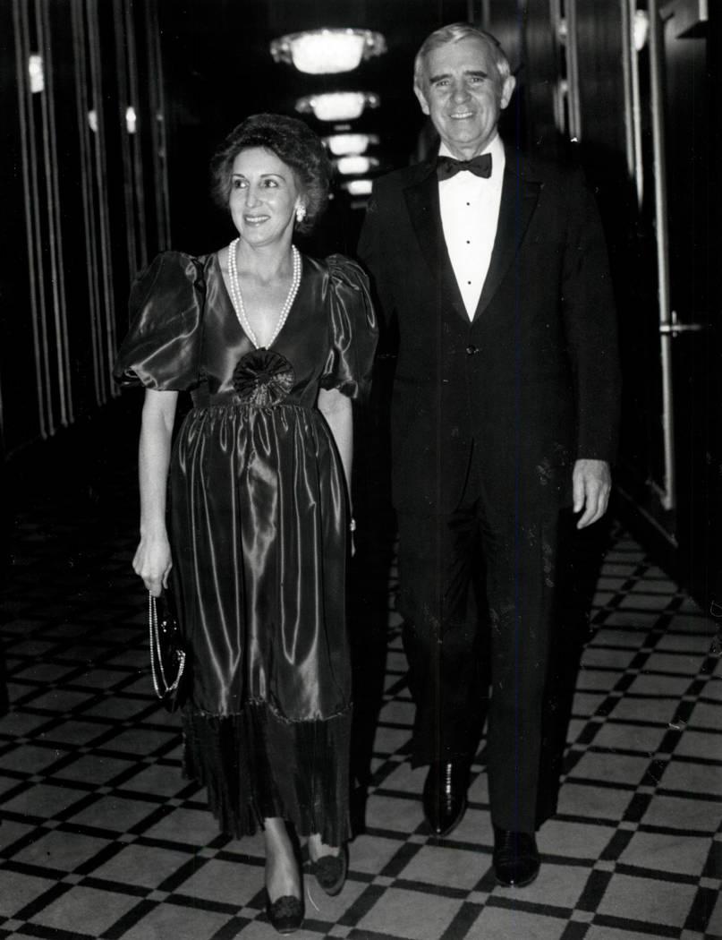 Carol y Paul Laxalt en 1982. (Foto de archivo Las Vegas Review-Journal)