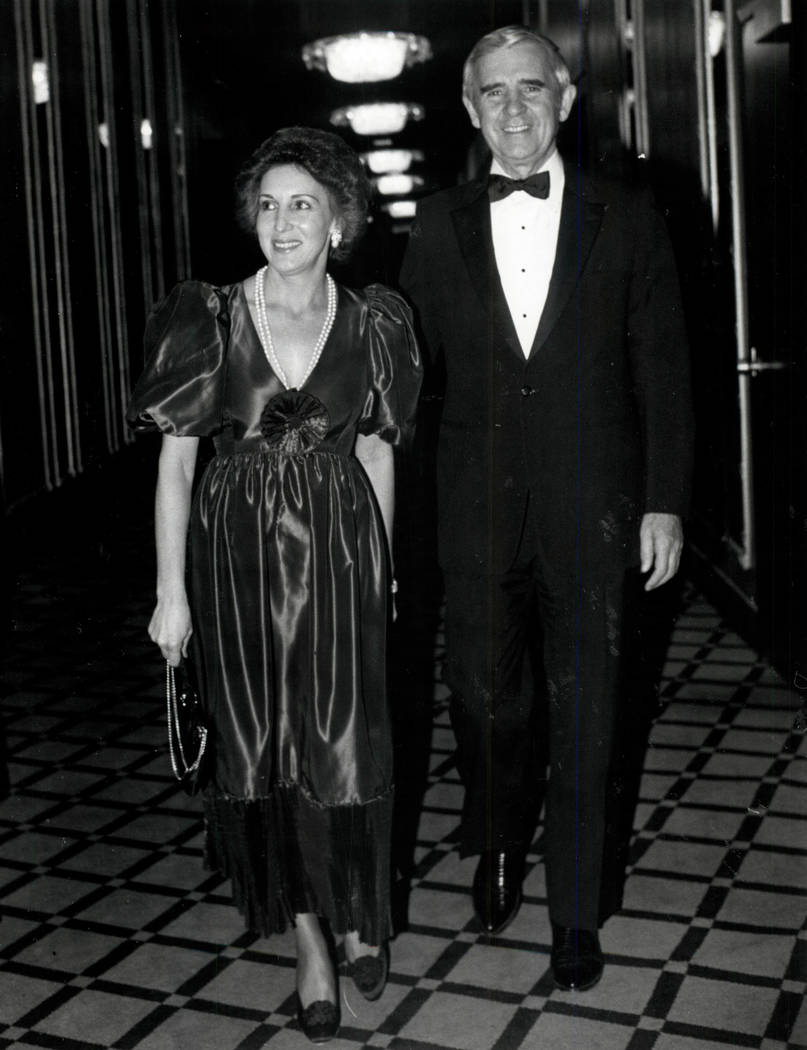 Carol y Paul Laxalt en 1982. (Foto de archivo Las Vegas Review-Journal)