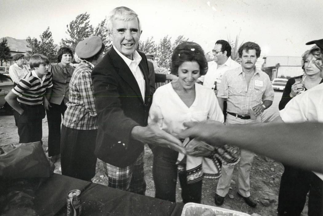 Paul Laxalt en 1982. (Foto de archivo Las Vegas Review-Journal)