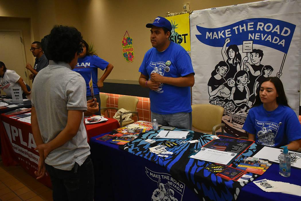 El evento contó con la participación de distintas organizaciones no lucrativas que se identifican como progresistas. Miércoles 8 de agosto de 2018 en el Centro Comunitario Este de Las Vegas. Fo ...