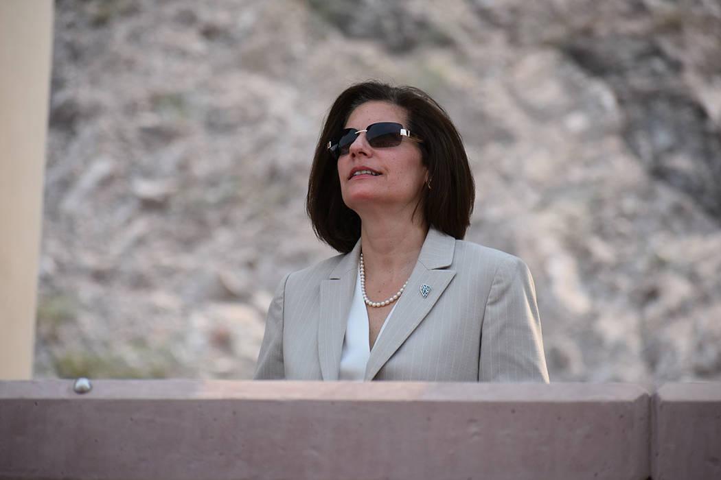 La senadora Catherine Cortéz Masto también participó en el evento. Jueves 9 de agosto de 2018 en Boulder City, Nevada. Foto Anthony Avellaneda / El Tiempo.
