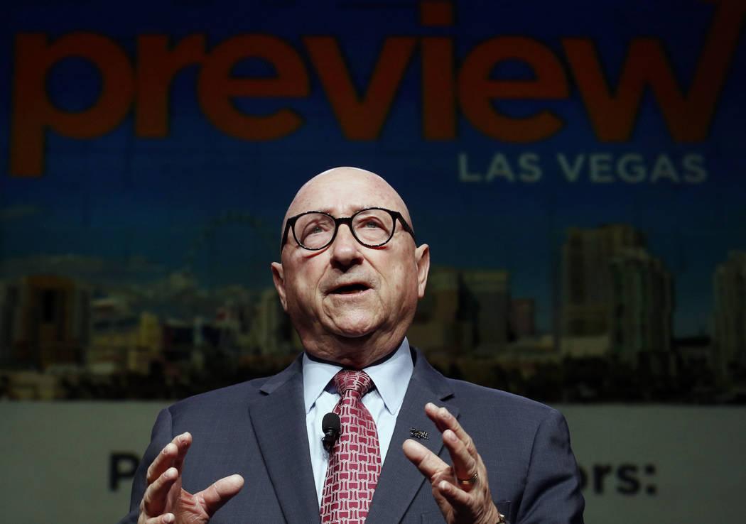 Rossi Ralenkotter, presidente y CEO de la Autoridad de Convenciones y Visitantes de Las Vegas, habla durante Preview Las Vegas, el evento anual de redes más grande de la Cámara Metropolitana de ...