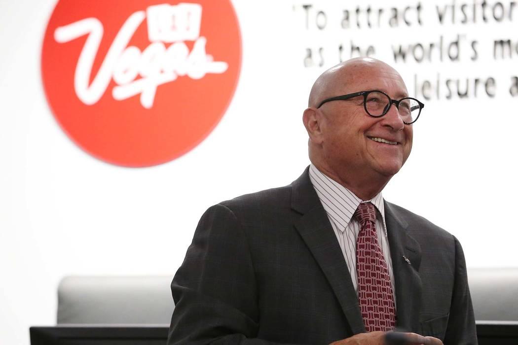 Rossi Ralenkotter, presidente de la Autoridad de Convenciones y Visitantes de Las Vegas, durante una reunión de la junta en el Centro de Convenciones de Las Vegas, el martes 12 de junio de 2018. ...