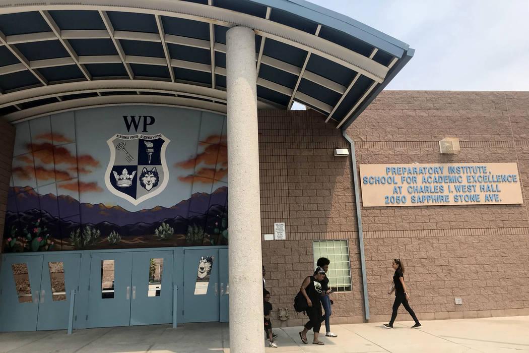 West Prep Academy en Las Vegas, jueves, 9 de agosto de 2018. (Amelia Pak-Harvey / Las Vegas Review-Journal)