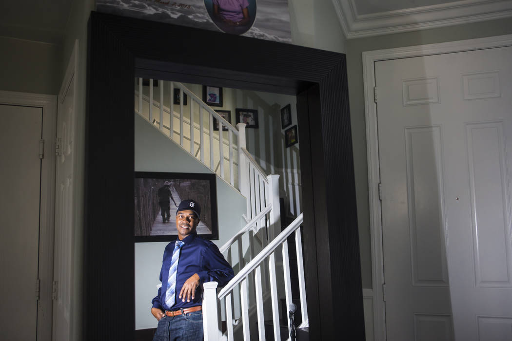 Deon Derrico en su casa en North Las Vegas el miércoles, 15 de agosto de 2018. Chase Stevens Las Vegas Review-Journal @csstevensphoto