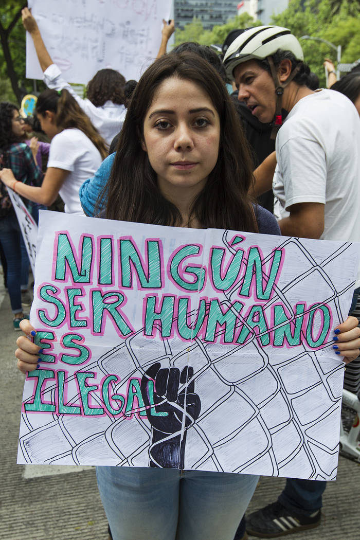 Archivo. México, 21 Jun 2018 (Notimex-José Pazos).- Un grupo manifestantes Pro-Migrantes protestaron frente a las instalaciones de la Embajada de los Estado Unidos en México, contra la separaci ...