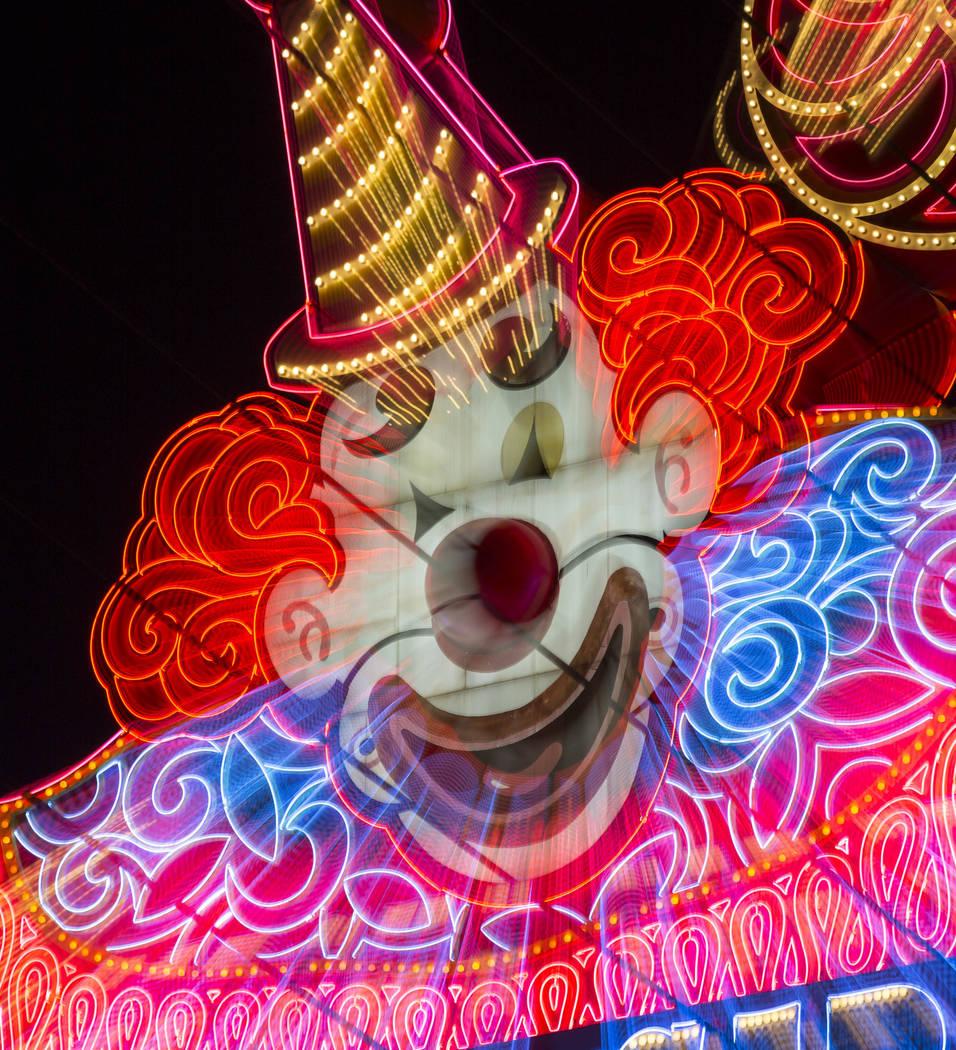 La marquesina del payaso Lucky a la entrada del hotel-resort Circus Circus de MGM en Las Vegas el lunes 18 de junio de 2018. Richard Brian Las Vegas Review-Journal @vegasphotograph