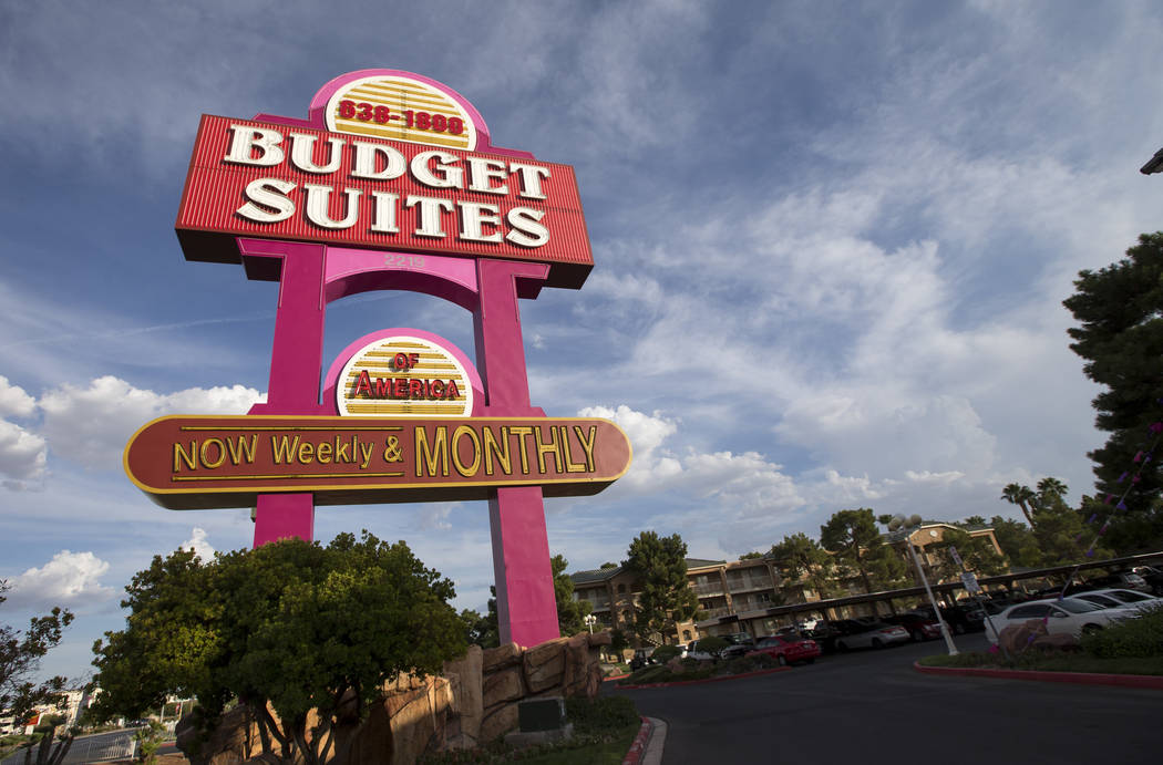 La cadena de apartamentos para estancias prolongadas Budget Suites of America se encuentra en 2219 North Rancho Drive en Las Vegas el lunes 20 de agosto de 2018. Richard Brian Las Vegas Review-Jou ...