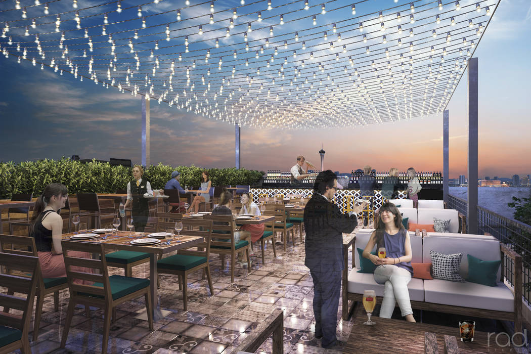 Un render del proyecto Treehouse Las Vegas de 22 mil pies cuadrados que se ubicará cerca de la intersección de Main Street y Charleston Boulevard, el proyecto contará con un restaurante de 300 ...