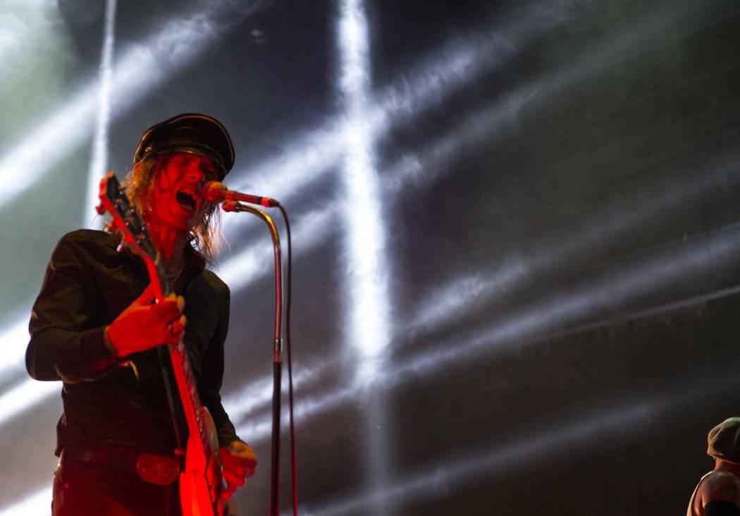 Nicke Andersson de The Hellacopters se presenta en el tercer día de Psycho Las Vegas en el Hard Rock Hotel de Las Vegas el domingo 19 de agosto de 2018. Richard Brian Las Vegas Review-Journal @ve ...