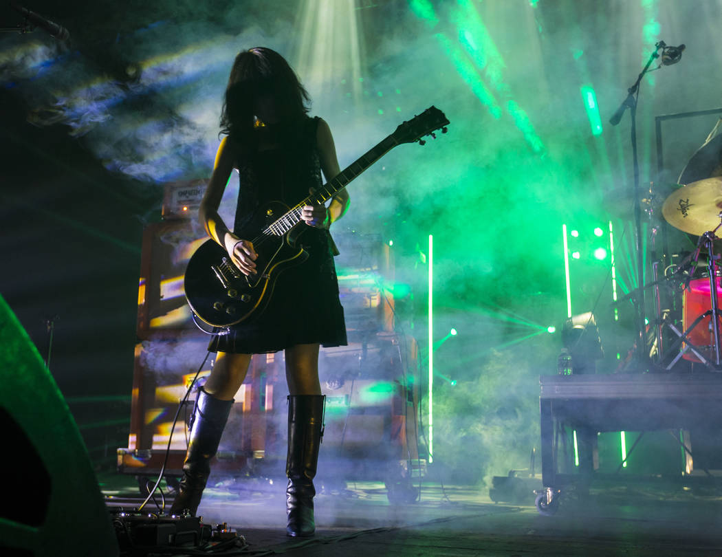 Wata of Boris actúa en The Joint durante el festival de música Psycho Las Vegas en el Hard Rock Hotel de Las Vegas el viernes 17 de agosto de 2018. Chase Stevens Las Vegas Review-Journal @csstev ...