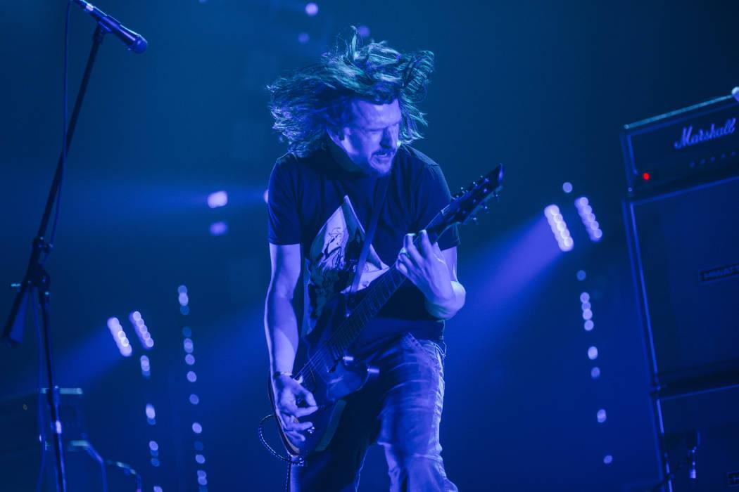 Justin Broadrick de Godflesh se presenta en The Joint durante Psycho Las Vegas en el Hard Rock Hotel de Las Vegas el sábado 18 de agosto de 2018. Chase Stevens Las Vegas Review-Journal @csstevens ...