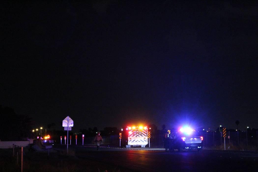 La policía de Las Vegas está investigando un homicidio el jueves 23 de agosto de 2018 en el valle noreste. (Max Michor / Las Vegas Review-Journal)