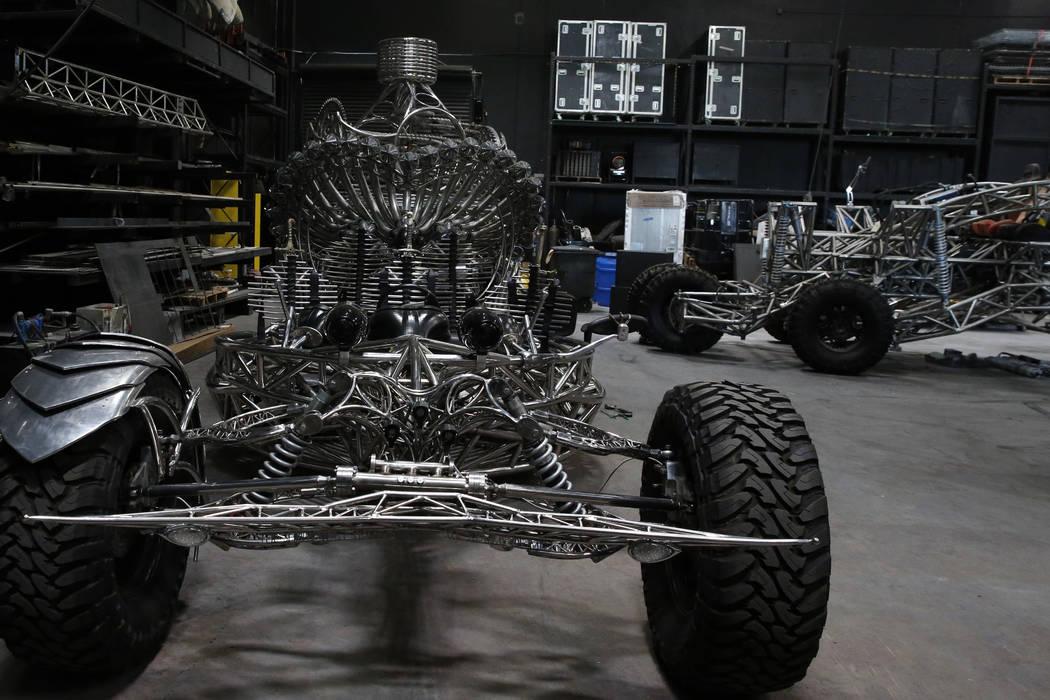 Vehículos Valyrian Steel, izquierda y Flux Capacitor fotografiados el martes 14 de agosto de 2018 en el garaje Design de Henry Chang en Las Vegas. Bizuayehu Tesfaye / Las Vegas Review-Journal @bi ...
